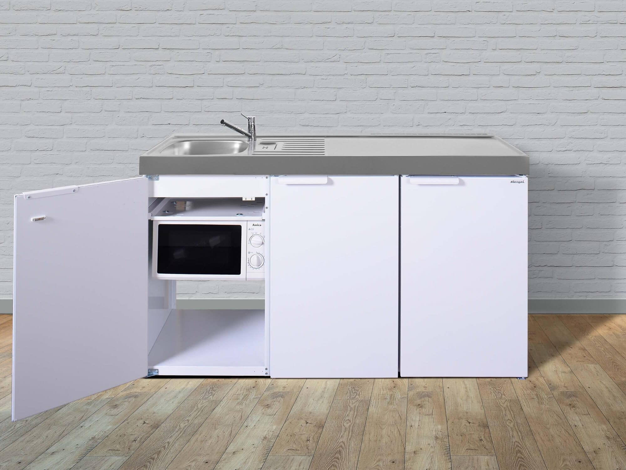 MIKROWELLE AMICA MW 13150 W – WEISS HABI Shops Miniküchen